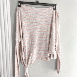 Free People Love Lane Striped One Shoulder Top S